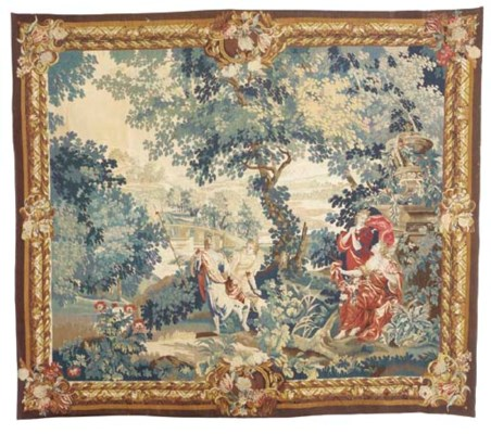 AN AUBUSSON VERDURE TAPESTRY,