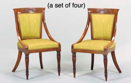 A SET OF FOUR GEORGE IV ROSEWO