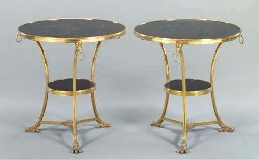 A PAIR OF DIRECTOIRE STYLE GIL