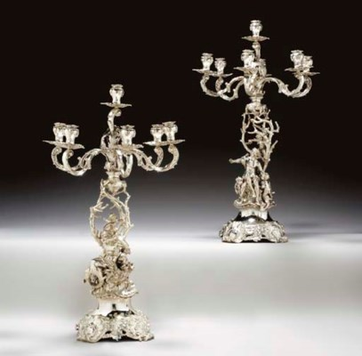 A PAIR OF AUSTRIAN SILVER SEVE