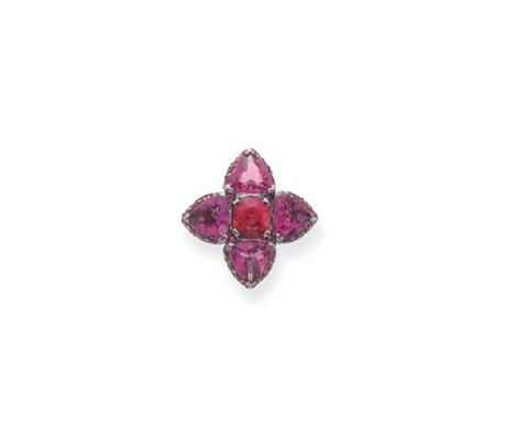 A TOURMALINE, SPINEL AND PINK