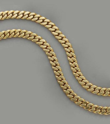 A PAIR OF 18K GOLD NECKLACES