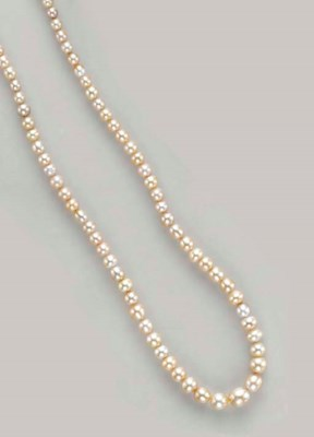 A NATURAL PEARL, DIAMOND AND W