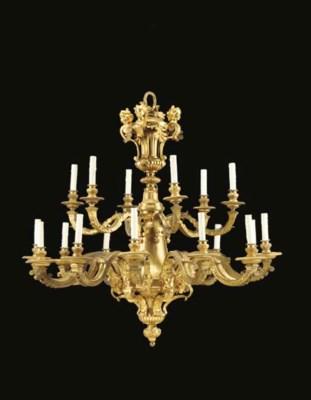 A Louis XIV style ormolu eight