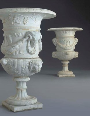 A pair of large Neoclassic sty