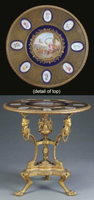 A Napoleon III ormolu and Sevr
