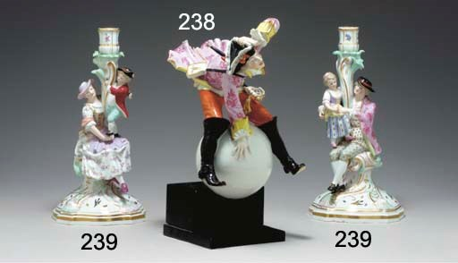 A MEISSEN SATIRICAL FIGURE OF