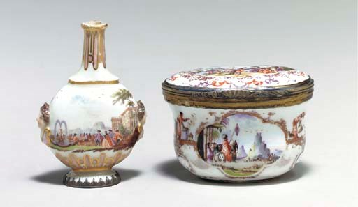 A GILT-METAL MOUNTED MEISSEN S