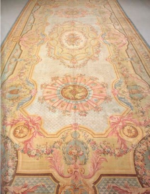 AN AUBUSSON PILE CARPET