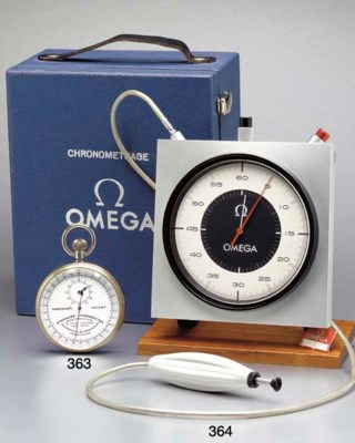 Omega. A metal and wooden over