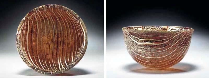 A ROMAN BANDED GLASS BOWL