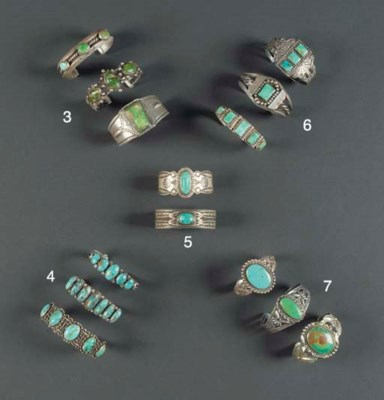 A GROUP OF THREE NAVAJO SILVER