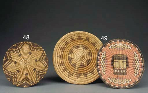 TWO SOUTHWEST BASKETRY ITEMS