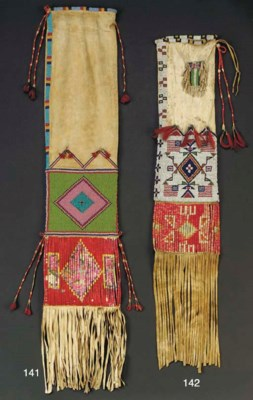 A SIOUX BEADED HIDE TOBACCO BA