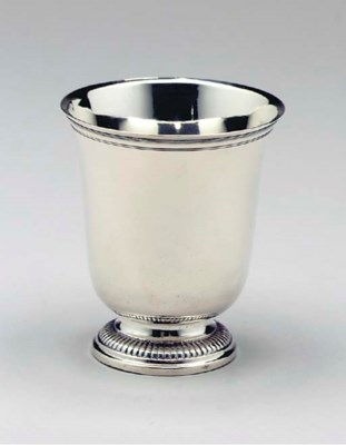 A FRENCH SILVER BEAKER,