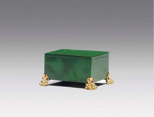 A GOLD AND JEWEL-MOUNTED MALAC