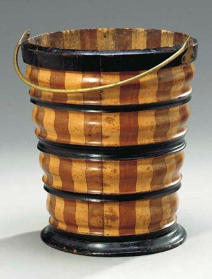 AN OAK, FRUITWOOD AND EBONIZED