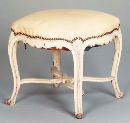 A LOUIS XV STYLE TABOURET,