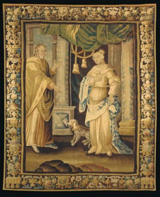 A LOUIS XIV AUBUSSON TAPESTRY,