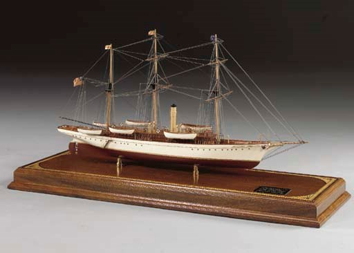 A model of the Sail/Steam Yach