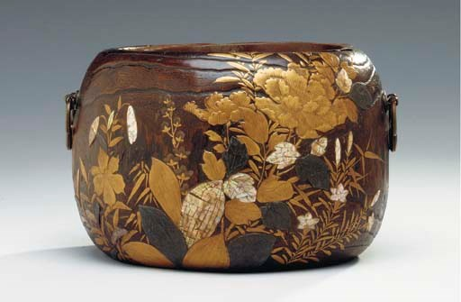 A JAPANESE LACQUER BRAZER,