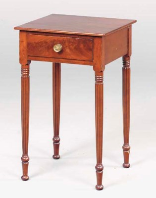 A FEDERAL MAHOGANY WORK TABLE,