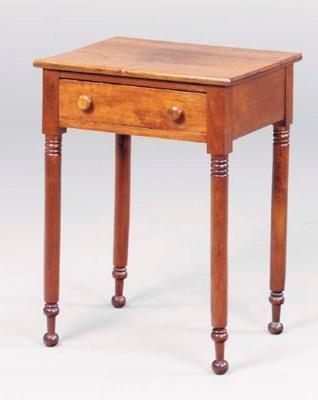A FEDERAL WALNUT WORK TABLE,