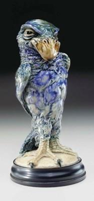 A STONEWARE BIRD