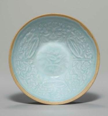 A QINGBAI MOLDED BOWL