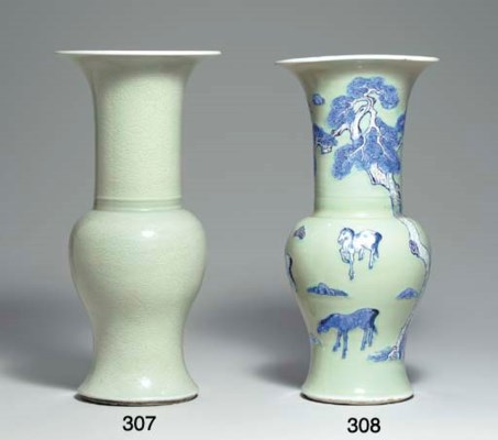 A CELADON-GLAZED INCISED YENYE