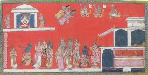 A Folio from a Ramayana Series