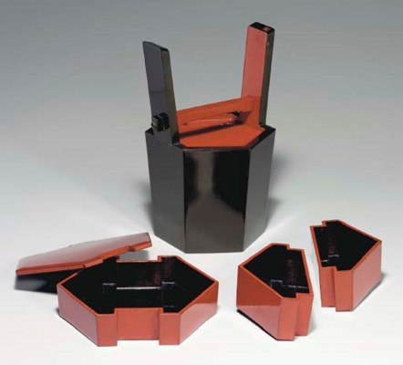 A Bucket-Form Lacquer Picnic S