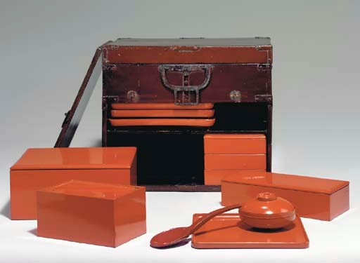 A Red Lacquer Transportable Pi