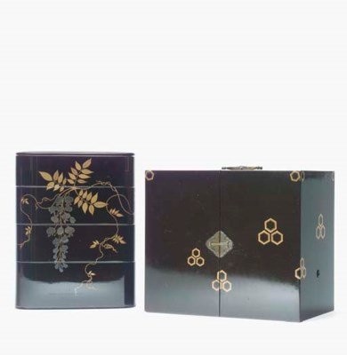 A GROUP OF LACQUER BOXES,