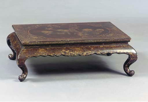 A CHINESE LACQUER AND PARCEL-G