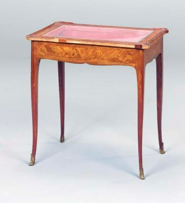 A LOUIS XV STYLE TULIPWOOD AND