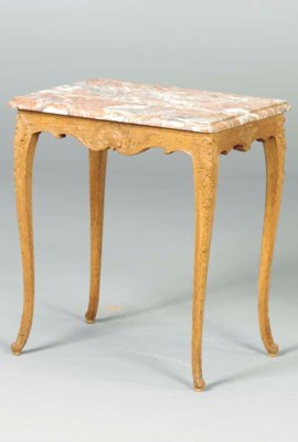 A LOUIS XV STYLE CARVED OAK AN