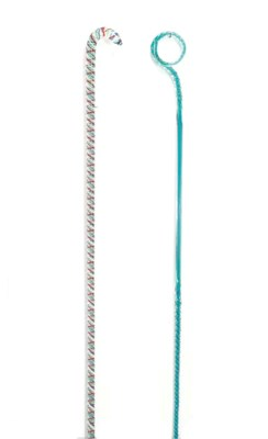 TWO COLORED GLASS CARPET CANES
