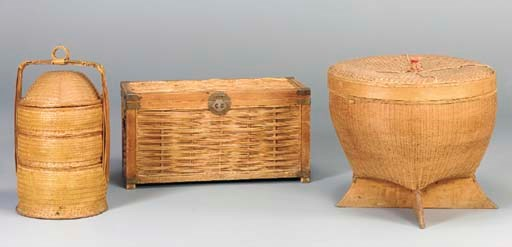 THREE LARGE BASKETS,