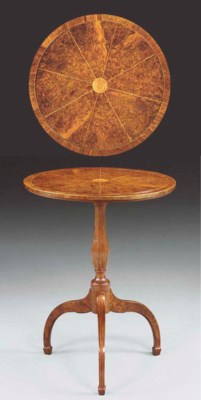 A LATE GEORGE III BURR-YEW AND