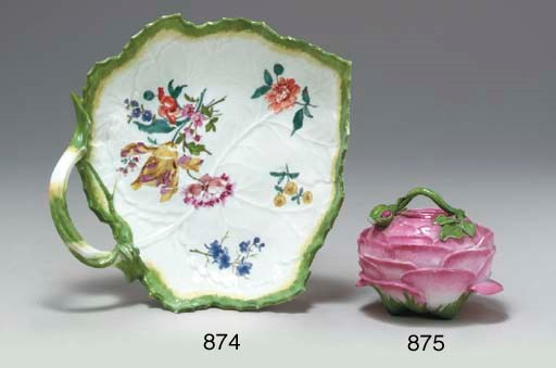 A MEISSEN SUGAR-BOWL AND COVER