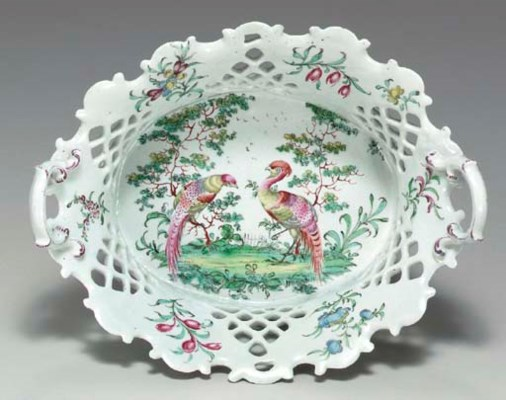 A DERBY PORCELAIN RETICULATED