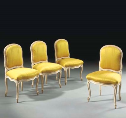 A SET OF FOUR LATE LOUIS XV WH
