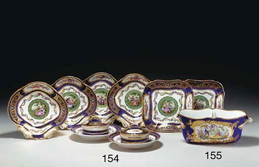 A SEVRES LATER-DECORATED COBAL