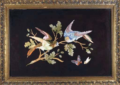 A framed Florentine pietre dur