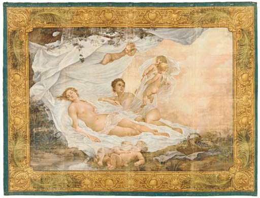 A French painted tapestry