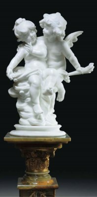 A French alabaster group of Cu