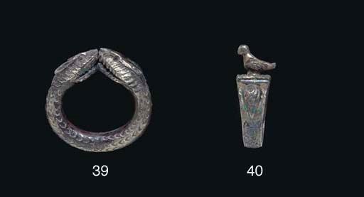 A ROMAN SILVER FINGER RING
