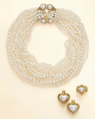 A SET OF MABE PEARL, CULTURED