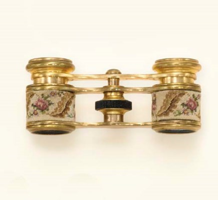 A PAIR OF PETIT POINT AND GILT